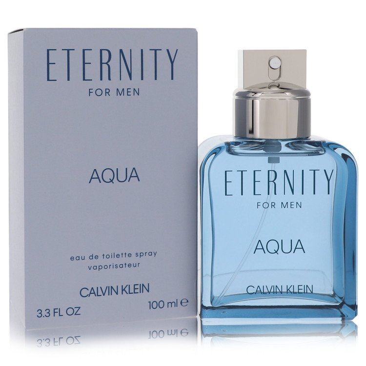 Eternity Aqua by Calvin Klein for Men Eau De Toilette Spray 3.4 oz
