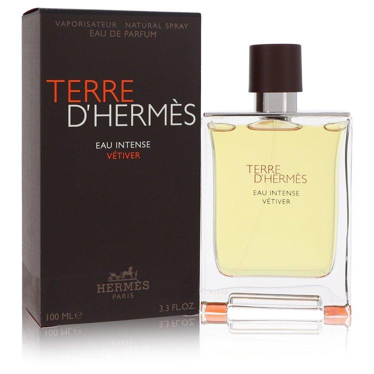 Terre D'hermes Eau Intense Vetiver by Hermes Men's Eau De Parfum Spray 3.3 oz