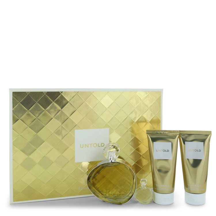 Untold by Elizabeth Arden Women's Gift Set -- 3.3 oz Eau De Parfum Spray + 1.7 oz Eau De Parfum Spray + 3.3 oz Shower Gel + 3.3 oz Body Cream