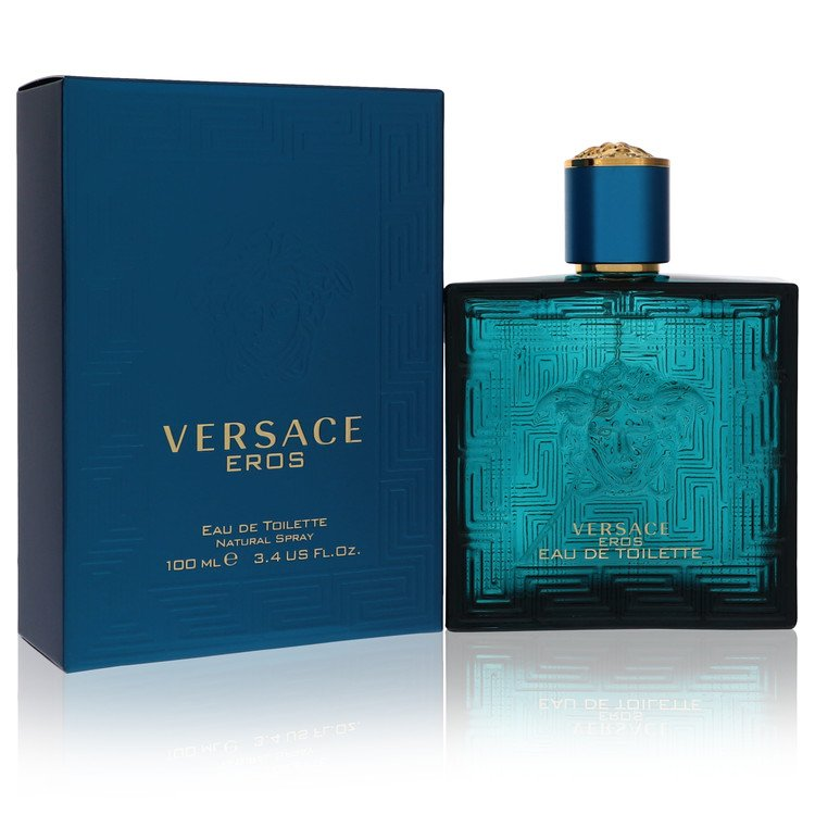 Versace Eros by Versace for Men Eau De Toilette Spray 3.4 oz