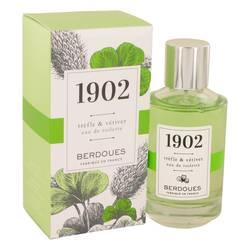 1902 Trefle & Vetiver Perfume by Berdoues, 100 ml Eau De Toilette Spray for Women