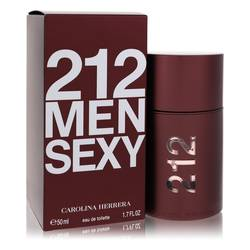 212 Sexy Cologne by Carolina Herrera, 1.7 oz Eau De Toilette Spray for Men