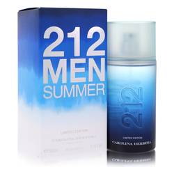 212 Summer Cologne by Carolina Herrera, 3.4 oz Eau De Toilette Spray (Limited Edition) for Men