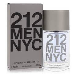 212 Cologne by Carolina Herrera, 1 oz Eau De Toilette Spray (New Packaging) for Men