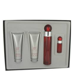 Perry Ellis 360 Red Gift Set by Perry Ellis Gift Set for Men Includes 3.4 oz Eau De Toilette Spray + 3 oz After Shave Balm + 3 oz Shower Gel +.25 oz Eau De Toilette Spray
