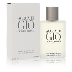 Acqua Di Gio After Shave by Giorgio Armani, 3.4 oz After Shave Lotion for Men