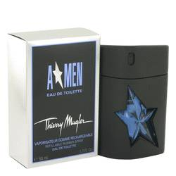 Angel Cologne by Thierry Mugler, 1.7 oz Eau De Toilette Spray Refillable (Rubber Flask) for Men