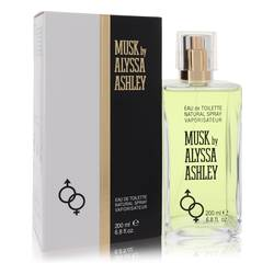 Alyssa Ashley Musk Perfume by Houbigant, 6.8 oz Eau De Toilette Spray for Women