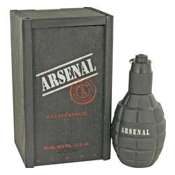 Arsenal Black Cologne by Gilles Cantuel, 3.4 oz Eau De Parfum Spray for Men