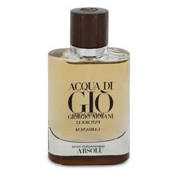 Acqua Di Gio Absolu Cologne by Giorgio Armani, 2.5 oz Eau De Parfum Spray (Tester) for Men