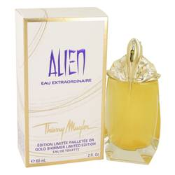 Alien Eau Extraordinaire Perfume by Thierry Mugler, 2 oz Eau De Toilette Spray (Gold Shimmer Edition) for Women