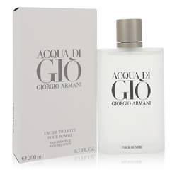 Acqua Di Gio Cologne by Giorgio Armani, 6.7 oz Eau De Toilette Spray for Men