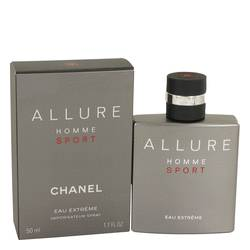 Allure Homme Sport Eau Extreme Cologne by Chanel, 1.7 oz EDT Spray for Men