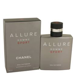 Allure Homme Sport Eau Extreme Cologne by Chanel, 3.4 oz Eau De Parfum Spray for Men