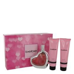 Bebe Gift Set by Bebe Gift Set for Women Includes 3.4 oz Eau De Parfum Spray + 3.4 oz Body Lotion + 3.4 oz Shower Gel