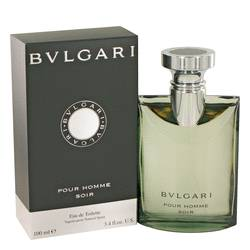 Bvlgari Pour Homme Soir Cologne by Bvlgari, 3.4 oz EDT Spray for Men