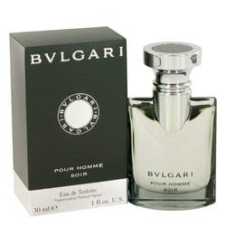 Bvlgari Pour Homme Soir Cologne by Bvlgari, 1 oz EDT Spray for Men