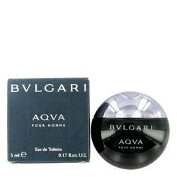 Aqua Pour Homme Mini by Bvlgari, .17 oz Mini EDT for Men Cologne