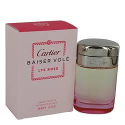 Baiser Vole Lys Rose Perfume by Cartier, 1.6 oz Eau De Toilette Spray for Women