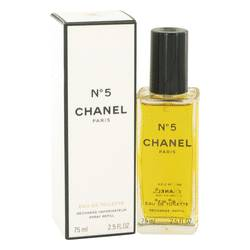 Chanel No. 5 Perfume by Chanel, 2.5 oz EDT Spray Refill for Women
