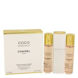 Coco Mademoiselle Mini by Chanel, 3 x.7 oz Mini EDT Spray for Women