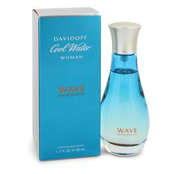 Cool Water Wave Perfume by Davidoff, 1.7 oz Eau De Toilette Spray for Women