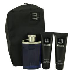 Desire Blue Gift Set by Alfred Dunhill Gift Set for Men Includes 3.4 oz Eau DE Toilette Spray + 3 oz Shower Gel + 3 oz After Shave Balm + Bag