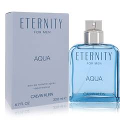 Eternity Aqua Cologne by Calvin Klein, 6.7 oz EDT Spray for Men