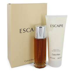 Escape Gift Set by Calvin Klein Gift Set for Women Includes 3.4 oz EDP Spray + 6.7 oz Body Lotion