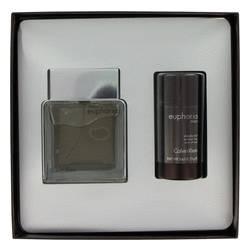 Euphoria Gift Set by Calvin Klein Gift Set for Men Includes 3.4 oz EDT Spray + 2.6 oz Deodorant Stick Cologne