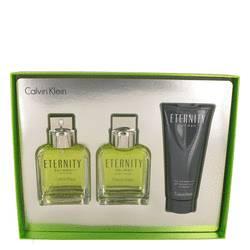 Eternity Gift Set by Calvin Klein Gift Set for Men Includes 3.4 oz EDT Spray + 3.4 After Shave + 3.4 oz Shower Gel