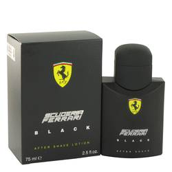 Ferrari Scuderia Black After Shave by Ferrari, 2.5 oz After Shave for Men