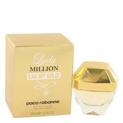 Lady Million Eau My Gold Perfume by Paco Rabanne, 1 oz Eau De Toilette Spray for Women