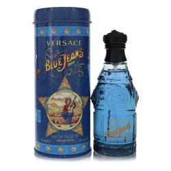 Blue Jeans Cologne by Versace, 75 ml Eau De Toilette Spray (New Packaging) for Men from FragranceX.com