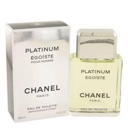 Egoiste Platinum Cologne by Chanel, 3.4 oz EDT Spray for Men