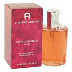 Private Number Perfume by Etienne Aigner, 3.4 oz Eau De Toilette Spray for Women