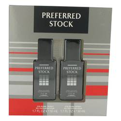 Preferred Stock Gift Set by Coty Gift Set for Men Includes Two 1.7 oz Cologne Sprays
