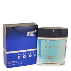 Presence Cool Cologne by Mont Blanc, 50 ml Eau De Toilette Spray for Men