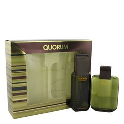 Quorum Gift Set by Antonio Puig Gift Set for Men Includes 3.3 oz Eau De Toilette Spray + 3.3 oz After Shave