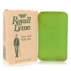 Royall Lyme Soap by Royall Fragrances, 8 oz Face and Body Bar Soap for Men