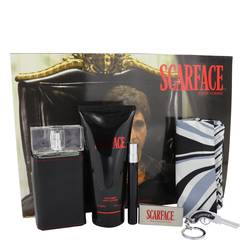Scarface Al Pacino Gift Set by Universal Studios Gift Set for Men Includes 3.4 oz Eau De Toilette Spray + 6.8 oz Body Lotion + .34 oz Mini EDT Spray + Money Clip+ Key Chain + Designer Scarf