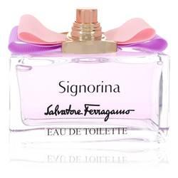 Signorina Perfume by Salvatore Ferragamo, 3.4 oz Eau De Toilette Spray (Tester) for Women