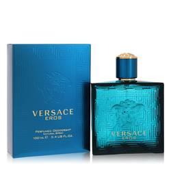 Versace Eros Deodorant by Versace, 3.4 oz Deodorant Spray for Men