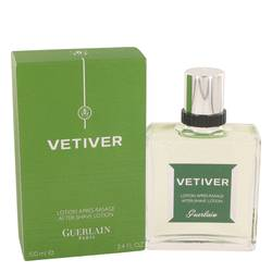 Vetiver Guerlain After Shave by Guerlain, 3.4 oz After Shave Lotion for Men