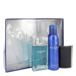Vizzari Gift Set by Roberto Vizzari Gift Set for Men Includes 3.3 oz Eau De Toilette Spray + 6.6 oz Deodorant Spray + Card Holder