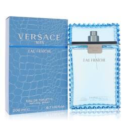 Versace Man Cologne by Versace, 200 ml Eau Fraiche Eau De Toilette Spray (Blue) for Men