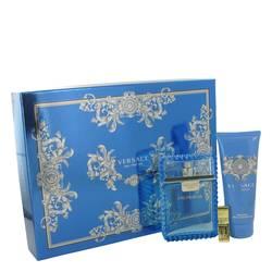 Versace Man Gift Set by Versace Gift Set for Men Includes 3.4 oz Eau De Toilette Spray (Eau Fraiche) + 3.4 oz Shower Gel + Gold Versace Money Clip