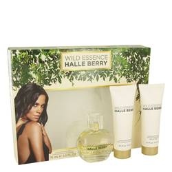 Wild Essence Halle Berry Gift Set by Halle Berry Gift Set for Women Includes 1 oz Eau De Parfum Spray + 2.5 oz Body Lotion + 2.5 oz Shower Gel