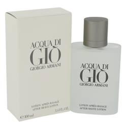 Acqua Di Gio After Shave by Giorgio Armani, 3.3 oz After Shave for Men