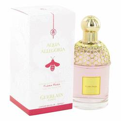 Aqua Allegoria Flora Rosa Perfume by Guerlain, 3.3 oz Eau De Toilette Spray for Women